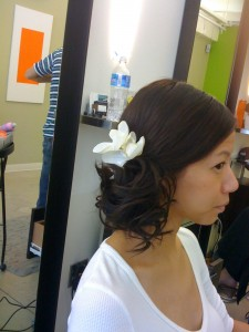 Chignon With Flower@ By Subairi