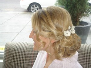 Loose Lower Chignon with Flowers