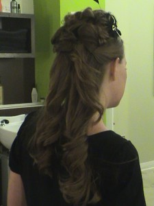 Half Up Style for Long Hair