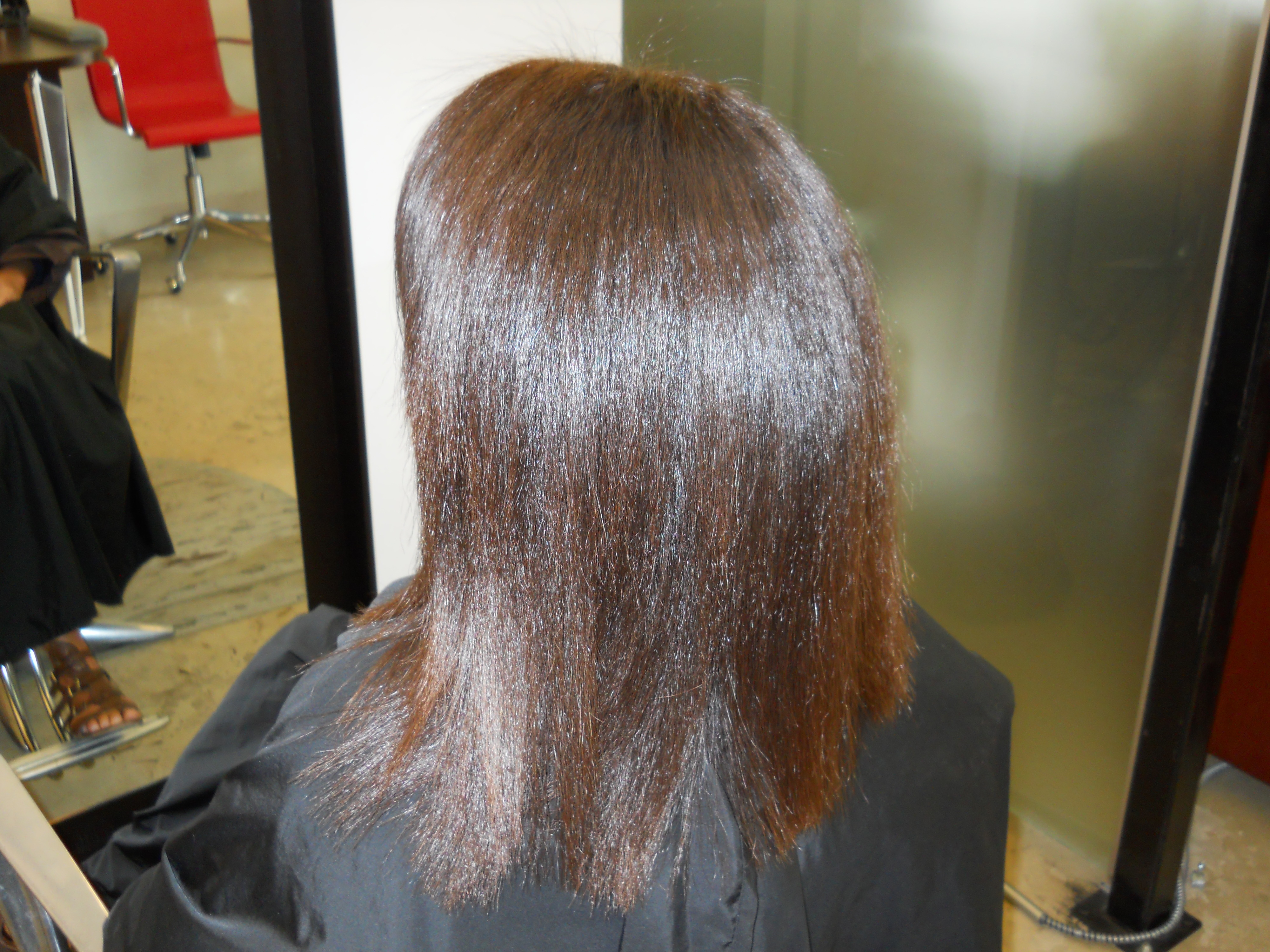 Straight perm didnt work - After The Paul Brown Straight Perm Treatment