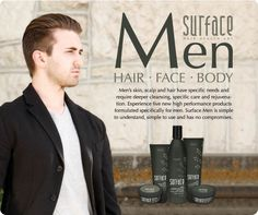 Surface Hair, Face and Body Care for Men