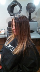 Two Examples of Balayage Highlights